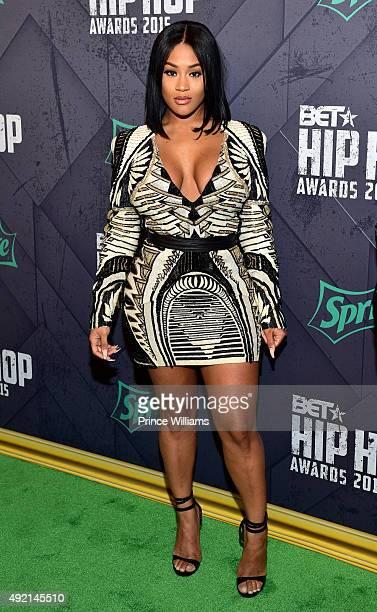 Lira Galore attends 2015 BET Hip Hop Awards at Boisfeuillet Jones Atlanta Civic Center on October 9 2015 in Atlanta Georgia