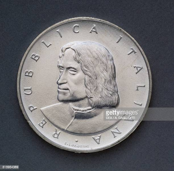 500 lire silver coin 500th Anniversary of the Death of Lorenzo de' Medici obverse Lorenzo de' Medici Italy 20th century Padova Musei Civici Eremitani...