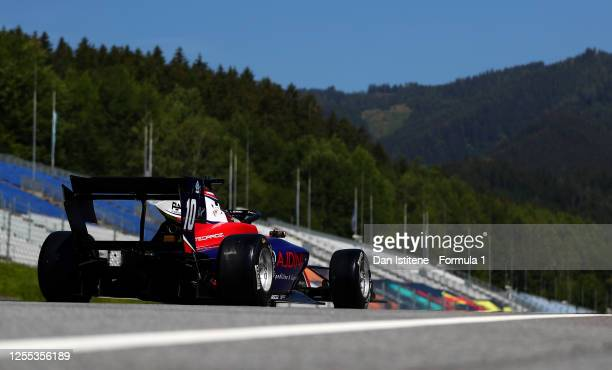 Lirim Zendeli of Germany and Trident drives on track during practice for the Formula 3 Championship at Red Bull Ring on July 10 2020 in Spielberg...