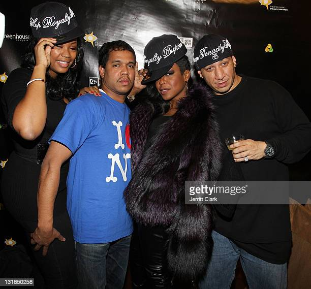 Liris Crosse Johnny Nunez Tichina Arnold and Kid Capri attend Johnny Nunez New Era Cap Launch at New Era Flagship Store on December 1 2010 in New...