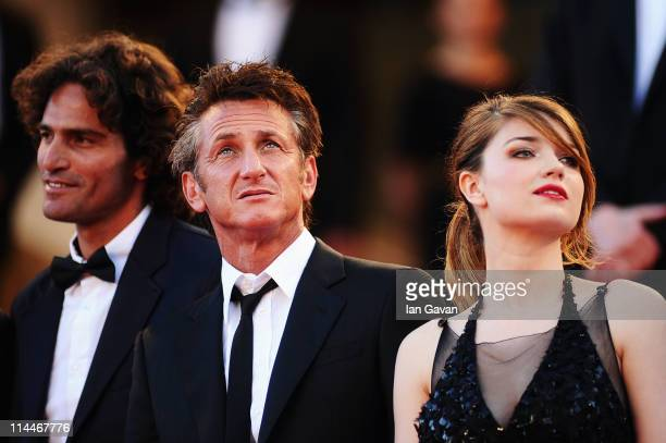 Liron Levo Sean Penn and Eve Hewson attends the This Must Be The Place premiere during the 64th Annual Cannes Film Festival at Palais des Festivals...