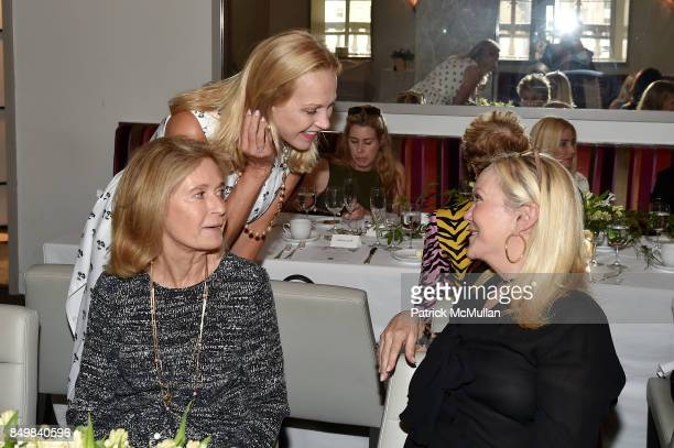 Lis Waterman Kim Charlton and Nina Griscom attend Audrey Gruss Marc Metrick Host hope Fragrance Luncheon at Cafe SFA Saks Fifth Avenue on September...