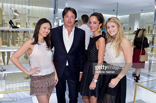Lisa Adams Gianvito Rossi and guests Barneys New York Fetes Shoe Designer Gianvito Rossi at Barneys New York Beverly Hills on August 27 2015 in...