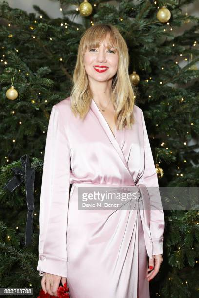 Lisa Aiken attends a party hosted by NETAPORTER and MR PORTER to celebrate the festive season in style at One Horse Guards on November 30 2017 in...
