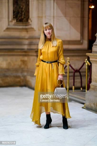 Lisa Aiken attends the Balmain show as part of the Paris Fashion Week Womenswear Spring/Summer 2018 on September 28 2017 in Paris France