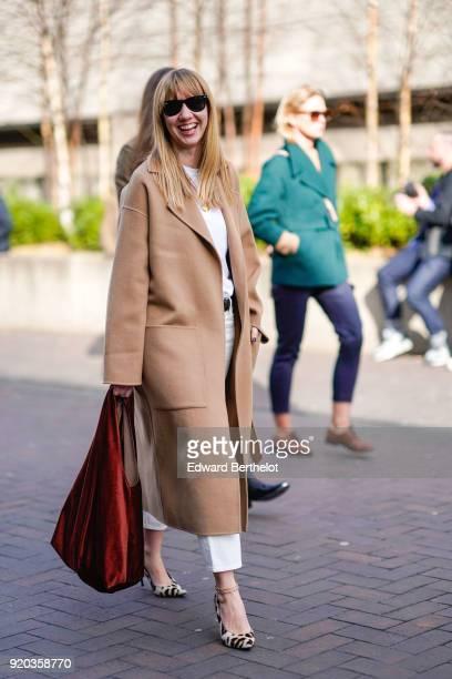 Lisa Aiken during London Fashion Week February 2018 on February 18 2018 in London England