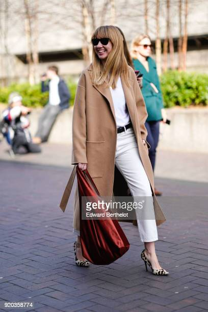 Lisa Aiken during London Fashion Week February 2018 on February 18 2018 in London England