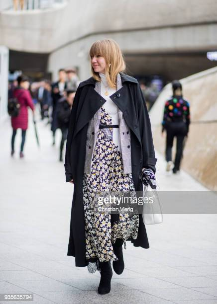 Lisa Aiken is seen at the Hera Seoul Fashion Week 2018 F/W at Dongdaemun Design Plaza on March 21 2018 in Seoul South Korea