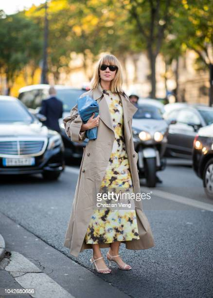Lisa Aiken is seen outside Rick Owens during Paris Fashion Week Womenswear Spring/Summer 2019 on September 27 2018 in Paris France