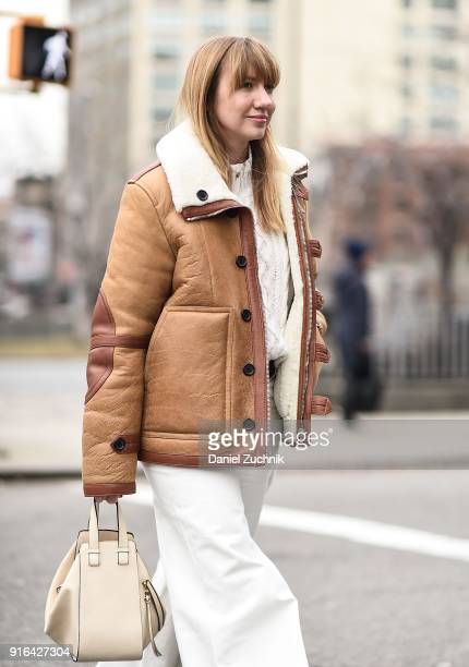 Lisa Aiken is seen outside the Brock Collection show during New York Fashion Week Women's A/W 2018 on February 9 2018 in New York City