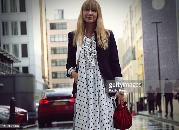Lisa Aiken on the street during the London Fashion Week