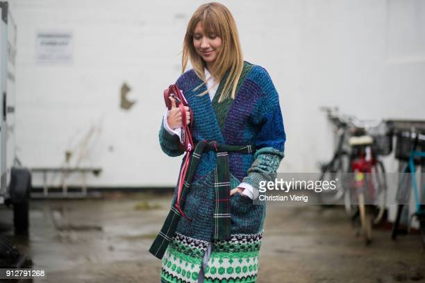 Lisa Aiken outside Cecilie Bahnsen during the Copenhagen Fashion Week Autumn/Winter 18 on January 31 2018 in Copenhagen Denmark