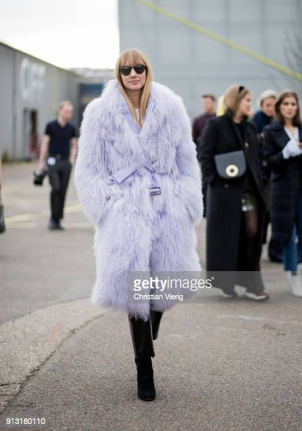 Lisa Aiken outside Designers Remix during the Copenhagen Fashion Week Autumn/Winter 18 on February 1 2018 in Copenhagen Denmark