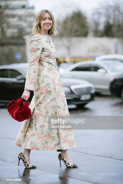 Lisa Aiken poses after the Haider Ackermann show at the Theatre National de Chaillot during Paris Fashion Week Womenswear Fall Winter 19/20 on March...