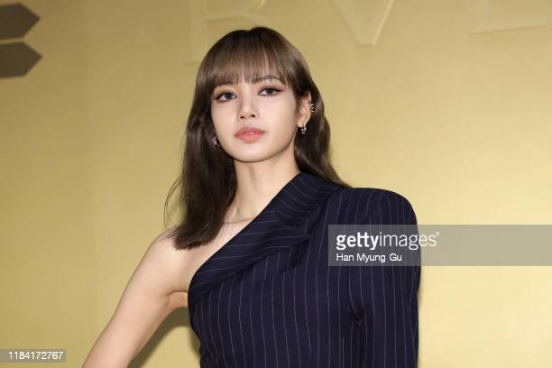 Lisa aka Lalisa Manoban of South Korean girl group BLACKPINK attends the photocall for the BVLGARI 'Serpenti Seduttori' launch event on October 29...