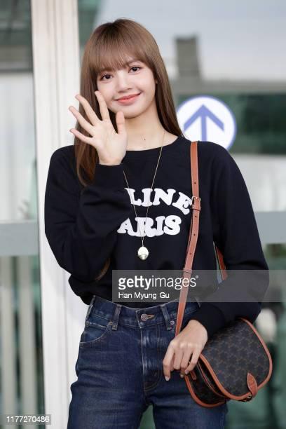 Lisa aka Lalisa Manoban of South Korean girl group BLACKPINK is seen on departure at Incheon International Airport on September 26 2019 in Incheon...