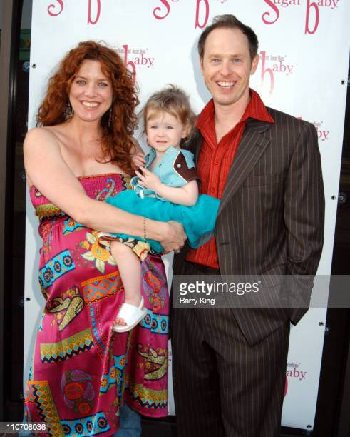 Lisa Akey Raphael Sbarge and daughter Gracie during Sugar Baby Kid's Boutique Store Opening at Sugar Baby in Los Angeles California United States