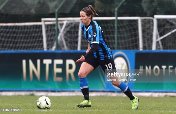 Lisa Alborghetti of FC Internazionale in action during the Women Coppa Italia match between FC Internazionale v AC Milan on December 11 2019 in...