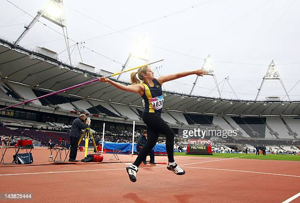 Lisa Alexandra Boardman throws in the Javerlin qualifications during day one of the BUCS Visa Athletics Championships 2012 LOCOG Test Event for...