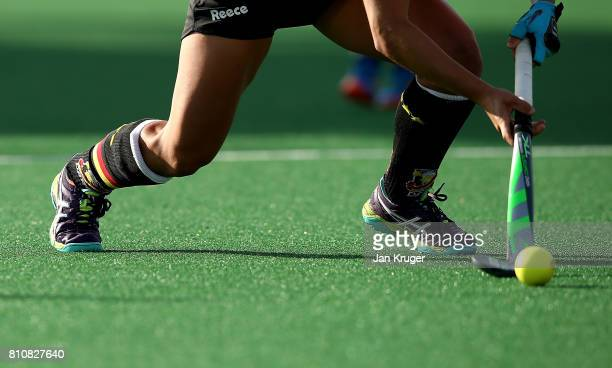 Lisa Altenburg of Germany controls the ball during day 1 of the FIH Hockey World League Semi Finals Pool A match between Germany and Poland at Wits...