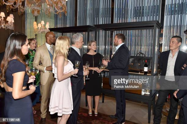 Lisa Anastas and Christopher King attend Christopher R King Debuts New Luxury Brand CCCXXXIII at Baccarat Hotel on June 5 2018 in New York City