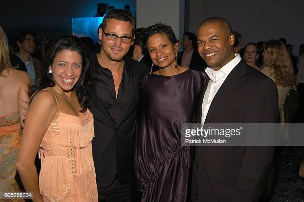 """Lisa Anastos, Justin Chambers, Keisha Leon Chambers and Ernest Williams attend CALVIN KLEIN COLLECTION and WHITNEY CONTEMPORARIES """"ARTPARTY"""" at..."""