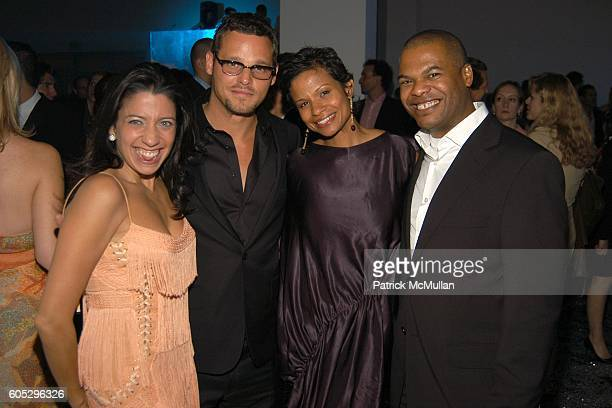 Lisa Anastos Justin Chambers Keisha Leon Chambers and Ernest Williams attend CALVIN KLEIN COLLECTION and WHITNEY CONTEMPORARIES ARTPARTY at Skylight...