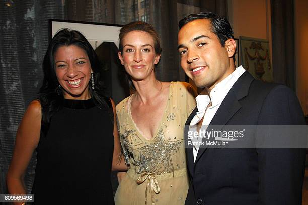 Lisa Anastos Kelly D'Halluin and Daniel Urzedo attend CHRISTIE'S and ROGER VIVIER Cocktail Party at Roger Vivier Boutique 750 Madison Avenue on...