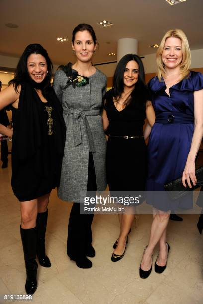 Lisa Anastos Melissa Skoog Carineh Martin and Amy McFarland attend Akris Hosts New Yorkers For Children Spring Dinner Dance KickOff at Akris Boutique...