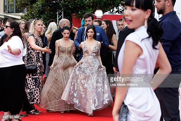 Lisa and Jess Origliasso of 'The Veronicas' arrive ahead of the ARIA Awards 2015 at The Star on November 26 2015 in Sydney Australia