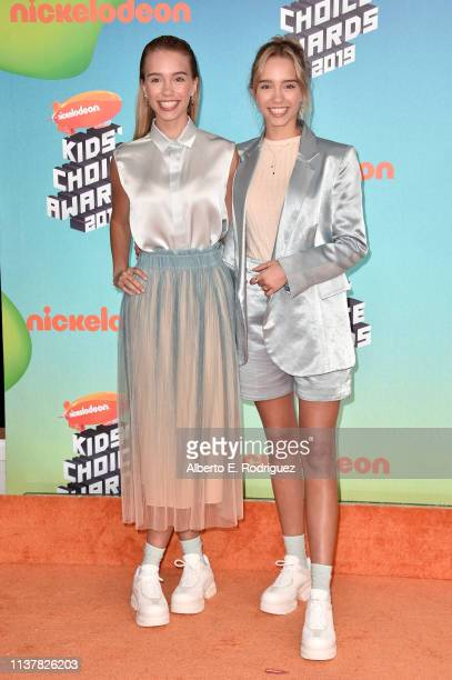 Lisa and Lena attend Nickelodeon's 2019 Kids' Choice Awards at Galen Center on March 23 2019 in Los Angeles California