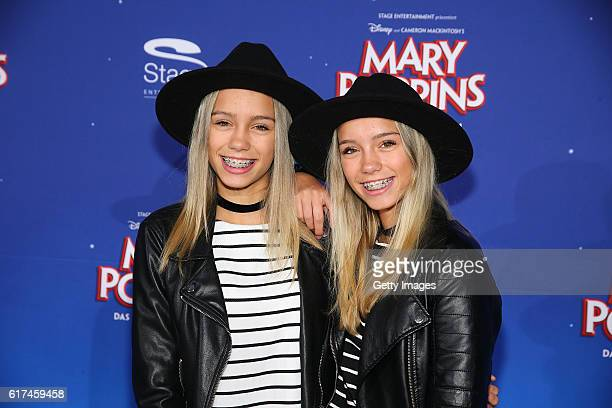 Lisa and Lena attend the red carpet at the premiere of the Mary Poppins musical at Stage Apollo Theater on October 23 2016 in Stuttgart Germany