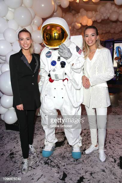 Lisa and Lena during the PLACE TO B Berlinale party of BILD at Borchardt Restaurant on February 9 2019 in Berlin Germany