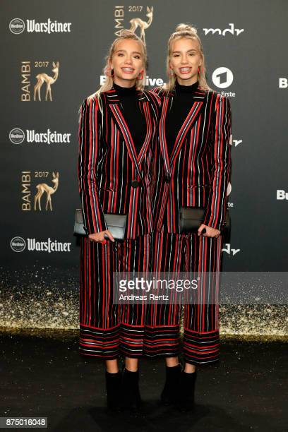 Lisa and Lena Mantler arrive at the Bambi Awards 2017 at Stage Theater on November 16 2017 in Berlin Germany