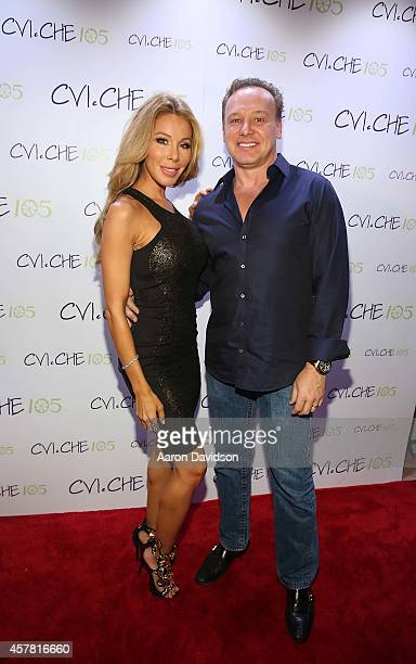 Lisa and Leonard Hochstein attends Private Opening Reception For CVICHE 105 South Beach on October 24 2014 in Miami Florida