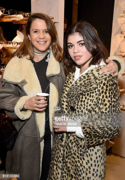 Lisa and Molly Moorish attend the private launch event for luxury eyewear brand FINLAY London's first Soho store on February 1 2018 in London England