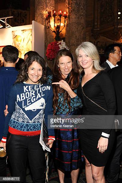 Lisa Ann Auerbach Mary Weatherford and Sara attend SEXY BEAST A Benefit For Planned Parenthood Los Angeles on September 20 2014 in Los Angeles...