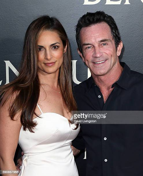 """Lisa Ann Russell and husband game show host Jeff Probst attend the premiere of Paramount Pictures' """"Ben-Hur"""" at the TCL Chinese Theatre IMAX on..."""