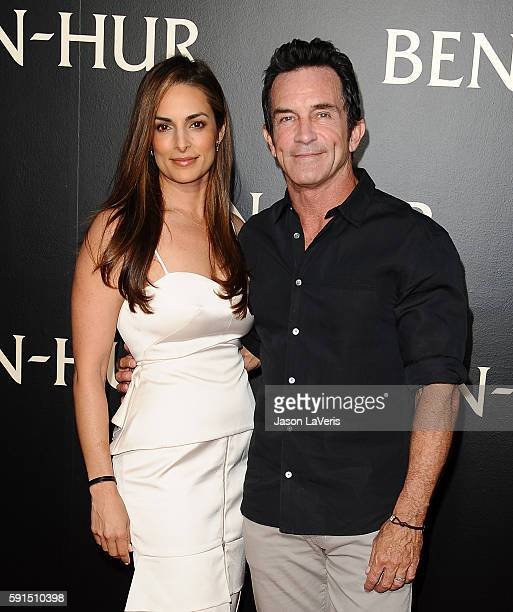 Lisa Ann Russell and Jeff Probst attend the premiere of BenHur at TCL Chinese Theatre IMAX on August 16 2016 in Hollywood California