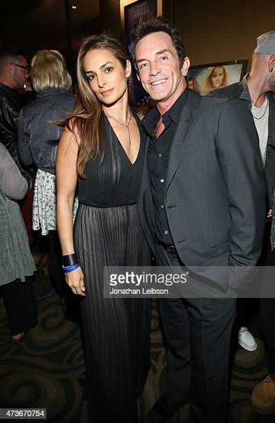 Lisa Ann Russell and TV Personality Jeff Probst attend An Evening with Women benefiting the Los Angeles LGBT Center at the Hollywood Palladium on May...