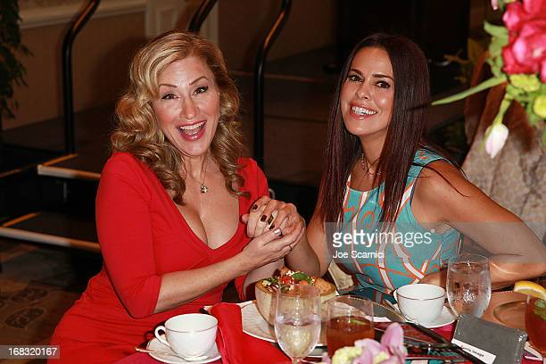 Lisa Ann Walter and Rosa Blasi attend ABC's Mother's Day luncheon at Four Seasons hotel Los Angeles at Beverly Hills on May 8, 2013 in Beverly Hills,...