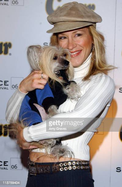 Lisa Ann Walter and Stella during 2006 Park City Cesar Spa For Small Dogs Day 3 at 577 Main Street in Park City Utah United States