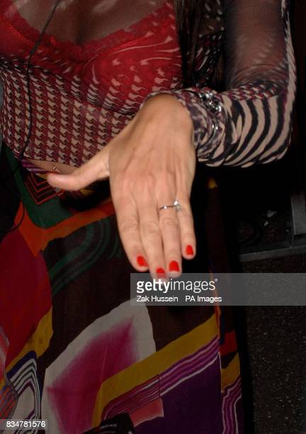 Lisa Appleton shows off the engagement ring as she is the 11th housemate to be evicted from the Big Brother 9 house at Elstree Studios in Borehamwood...