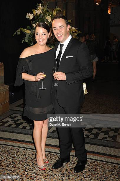 Lisa Armstrong and Anthony McPartlin arrive at the Philips British Academy Television Awards After Party at the Natural History Museum on June 6 2010...