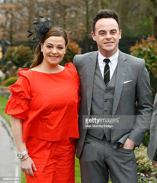 Lisa Armstrong and Anthony McPartlin attend The Prince's Countryside Fund Raceday at Ascot Racecourse on March 29 2015 in London England