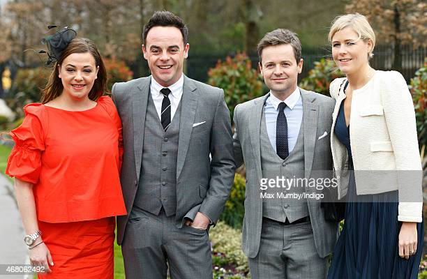 Lisa Armstrong Anthony McPartlin Declan Donnelly and Ali Astall attend The Prince's Countryside Fund Raceday at Ascot Racecourse on March 29 2015 in...