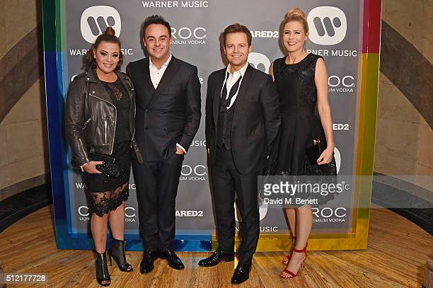 Lisa Armstrong Anthony McPartlin Declan Donnelly and Ali Astall attend the Warner Music Group Ciroc Vodka Brit Awards after party at Freemasons Hall...