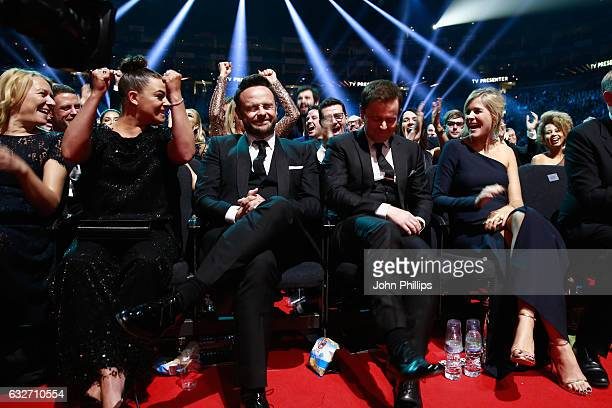 Lisa Armstrong Anthony McPartlin Declan Donnelly and Ali Astall during the National Television Awards at The O2 Arena on January 25 2017 in London...