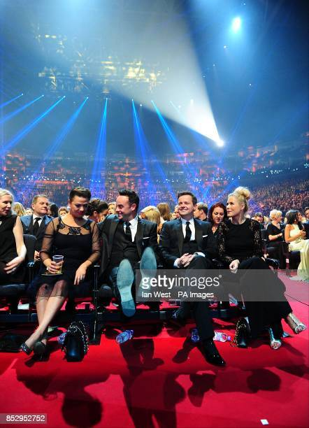 Lisa Armstrong Anthony McPartlin Declan Donnelly and Ali Astall during the 2014 National Television Awards at the O2 Arena London