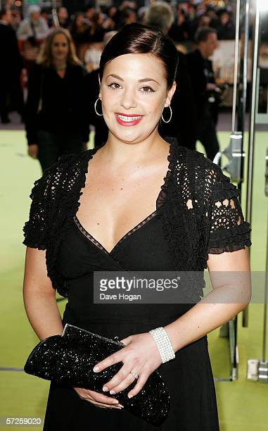 Lisa Armstrong Anthony McPartlin' s girlfriend arrives at the World Premiere of 'Alien Autopsy' at Odeon Leicester Square on April 3 2006 in London...